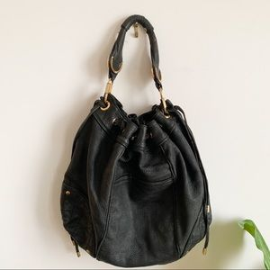 JUICY COUTURE Hobo Bag Brown 100% Cowhide Leather